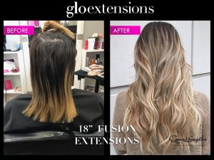 Great Lengths Before and After - Glo Extensions Denver