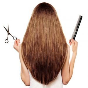 brown hair and hairdresser's tools
