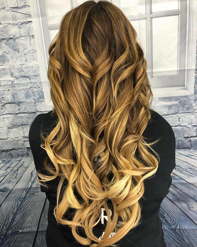 Chocolate and Caramel Blonde Hair Colors