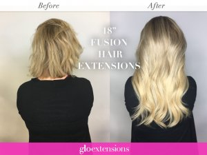 Fusion Hair Extensions - Glo Extensions Denver Salon