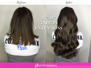 Tape In Hair Extensions - Glo Extensions Denver Salon