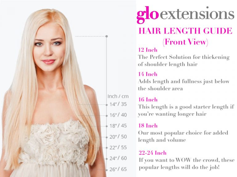 Hair Extensions Denver - Hair Length Guide - Glo Extensions