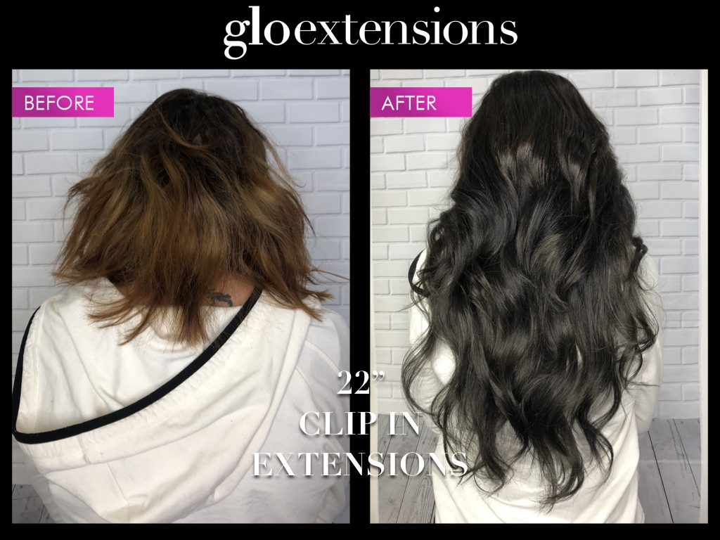 """Clip In Hair Extensions Denver: Glo Extensions 22"""" Clip In extensions"""