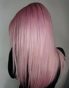 pastel hair color Glo Extensions Denver