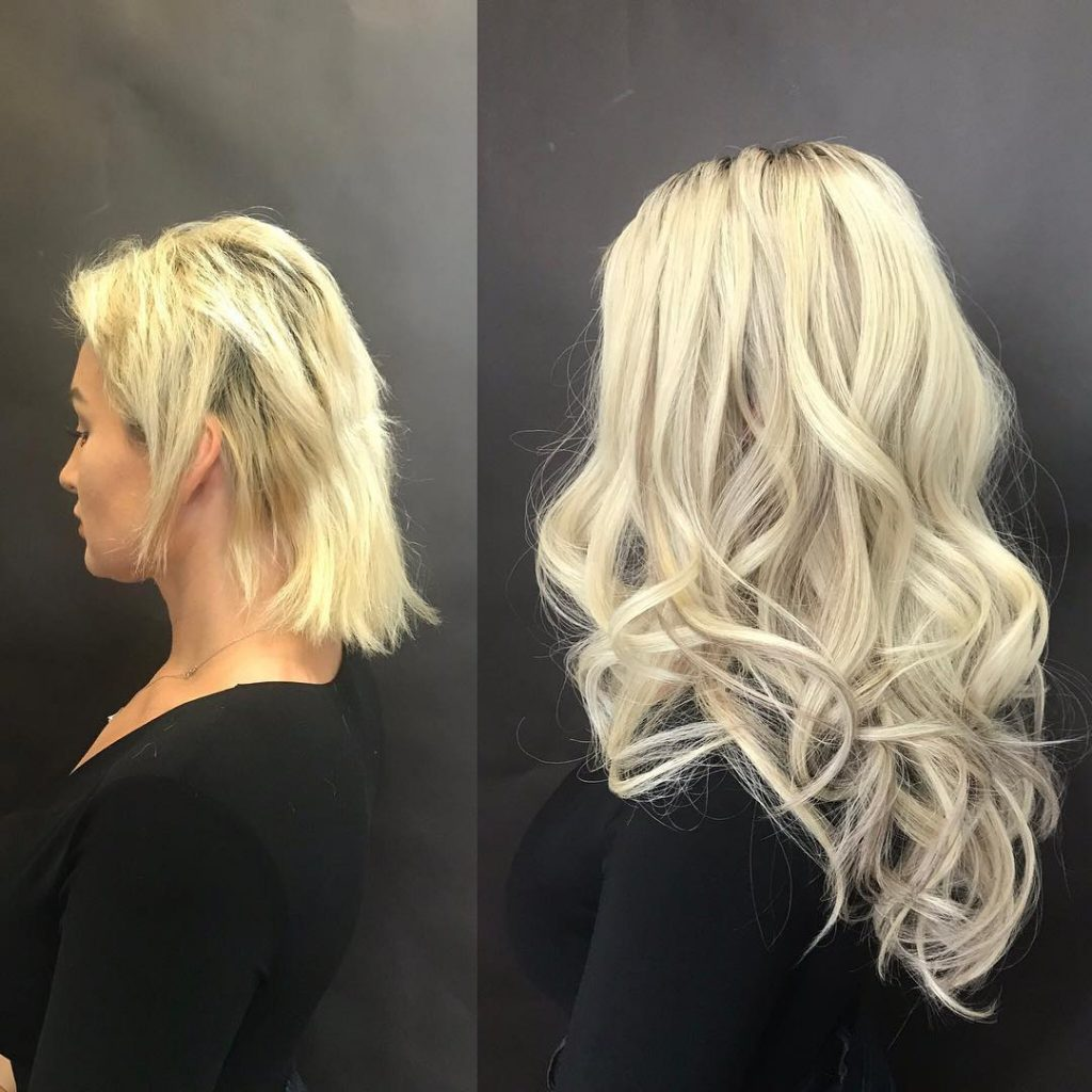 "17"" Tape-in Hair Extensions platinum"