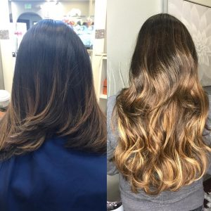 balayage ombre hair extensions denver