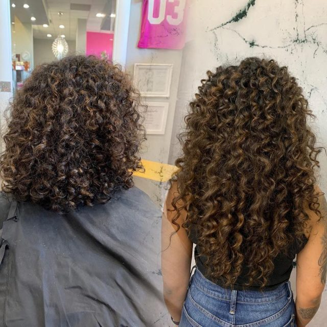 """18"""" Fusion Curly Hair Extensions Denver"""