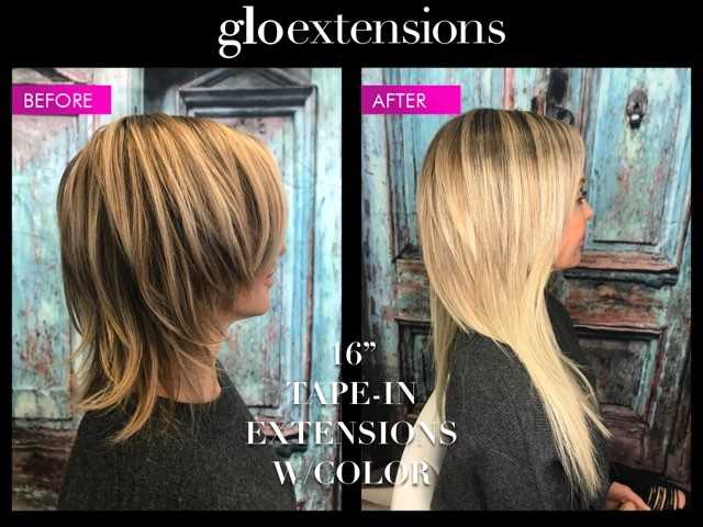 16 inch tape in extensions glo extensions denver