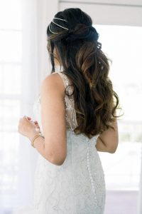 beautiful wedding day hair glo extensions denver