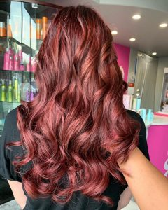 hadeel red hair color