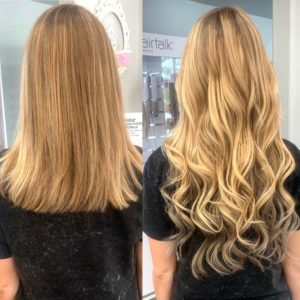 Jodan 18 in clip in hair extensions glo extensions denver