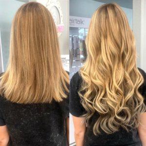 Jodan 18 in clip in hair extensions glo extensions denver