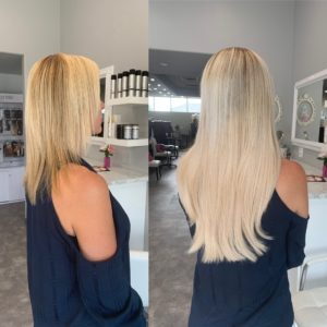 16 inch great length platinum extensions