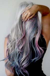 pastel balayage with fusion and tapes