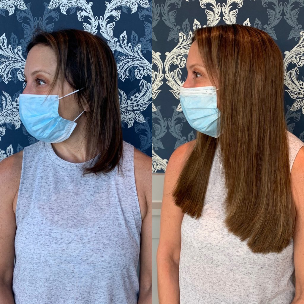 14 in Great Length hair extensions Glo by Heather