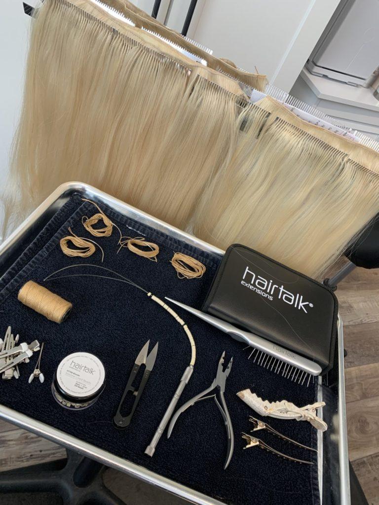 hairtalk weft extensions setup