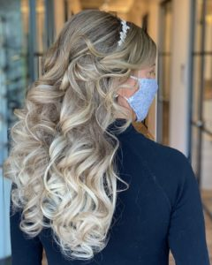 wedding hairstyle by Heather Glo Salon Denver
