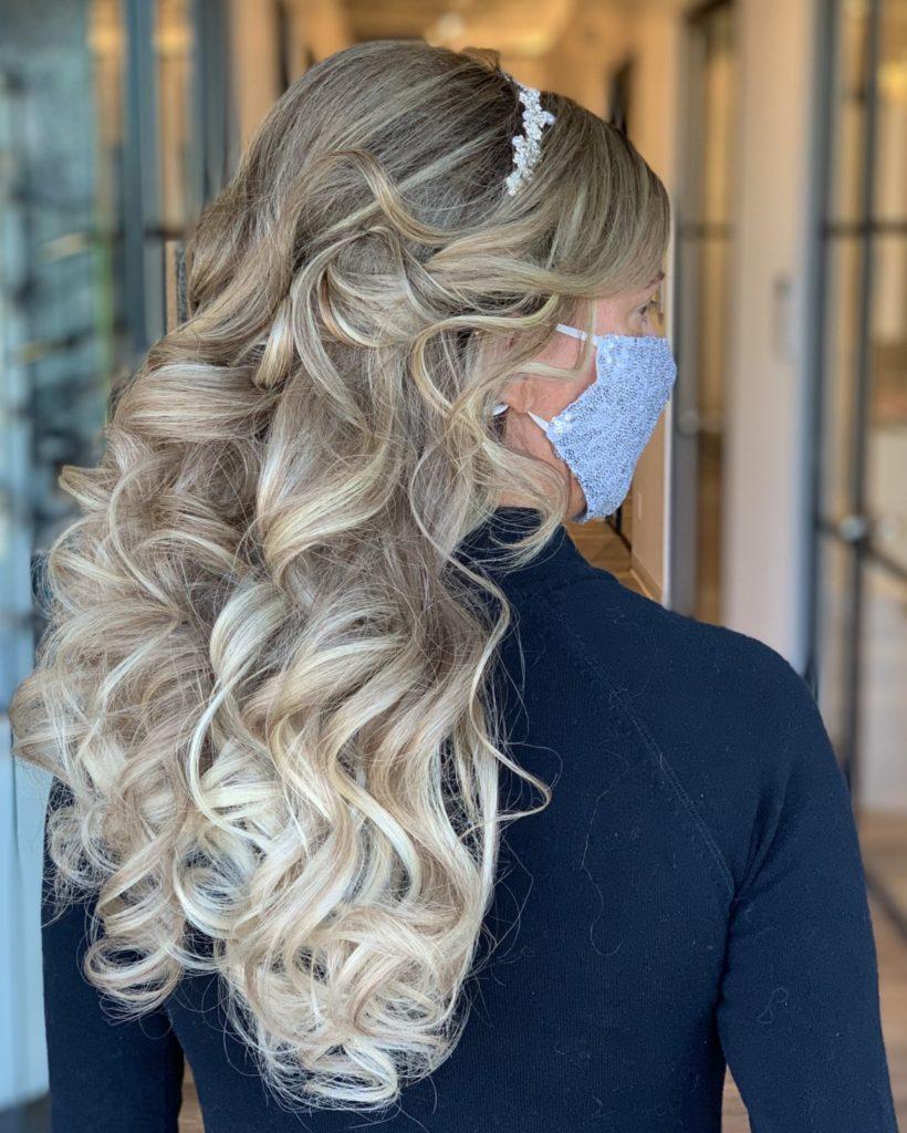 wedding hairstyle by Heather Glo Salon Denver