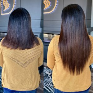 18 in brunette fusion extensions glo extensions denver