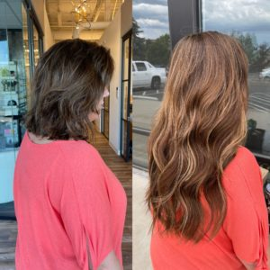 18 in fusion extensions by Heather at Glo Denver