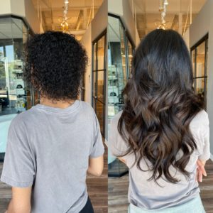 18 in fusion extensions by Heather at Glo Extensions Denver