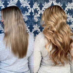 blonde hand tied hair extensions jordan