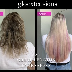 "18"" Great Lengths Hair Extensions - Glo Extensions Denver"