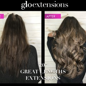 "20"" Great Lengths Hair Extensions - Glo Extensions Denver"