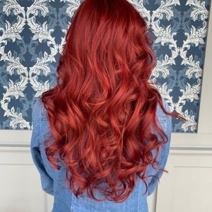 red hair color glo-extensions-denver