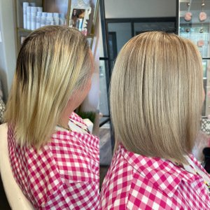 blonde-hair-refresh-glo-extensions-denver-by-heather