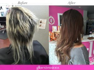 BEFORE AND AFTER - Great Lengths Hair Extensions - Glo Extensions Denver