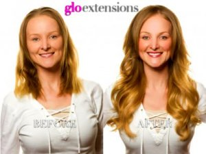 BEFORE AND AFTER - Fusion Hair Extensions - Glo Extensions Denver