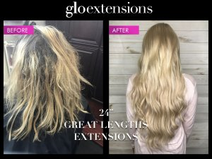"24"" Great Lengths Hair Extensions - Glo Extensions Denver"
